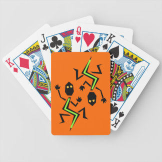 Neon Iguana Lizard Crawl Orange Playing Camp Cards
