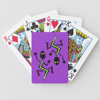 Neon Iguana Lizard Crawl Purple Playing Camp Cards