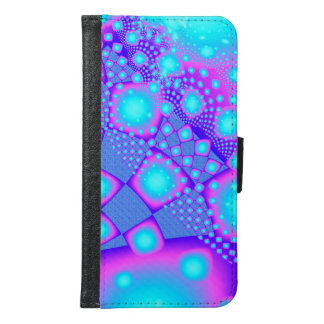 Neon Molecules Psychedelic Fractal Samsung Galaxy S6 Wallet Case