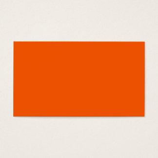 Neon Orange Tangerine Bright Fashion Colour Trend Business Card