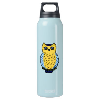 Neon Owl Insulated Water Bottle
