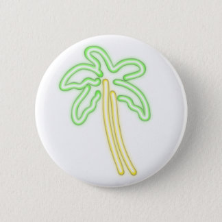 NEON PALM TREE shirts, accessories, gifts 6 Cm Round Badge