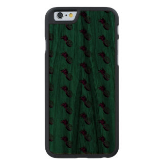 NEON PINEAPPLES Slim Walnut iPhone 6/6s Case