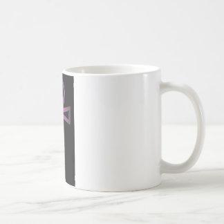 Neon Pink Cross Basic White Mug