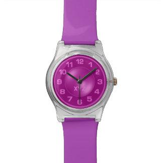 Neon Pink custom monogram watches