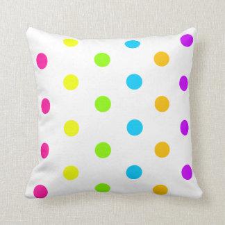 Neon Polka Dot Pillow Throw Cushion
