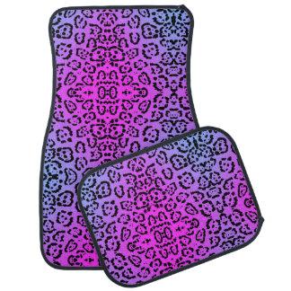 Neon Purple Cheetah Cat Animal Print Car Mat