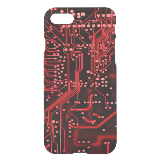 Neon Red Alien Weaponry Circuit Device iPhone 8/7 Case