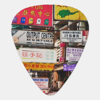 Neon signs in the streets of Hong Kong Plectrum