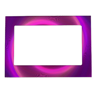 Neon spiral magnetic picture frame