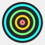 Neon Target Round Sticker