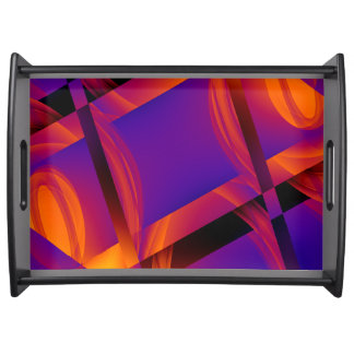 Neon Techie Cubes Serving Tray
