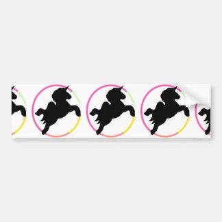 Neon unicorn! bumper sticker