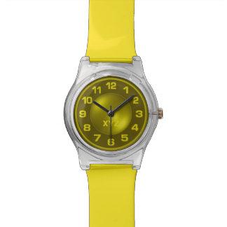 Neon Yellow custom monogram watches