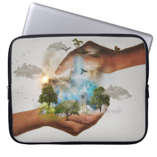 Neoprene Laptop Sleeve 15 inch In Nature Conservat