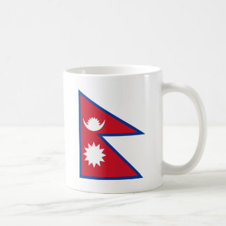 nepal basic white mug