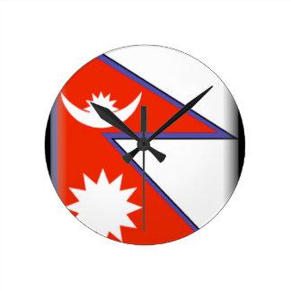 Nepal Round Wall Clock