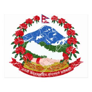 Nepal Coat Of Arms Postcard