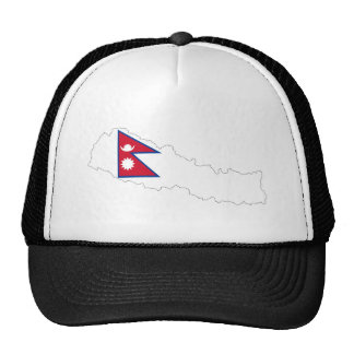 nepal country flag map cap
