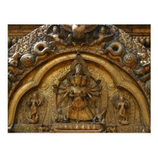 Nepal Deity Carving Postcard
