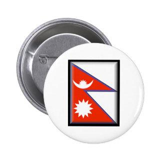 Nepal Flag Pin