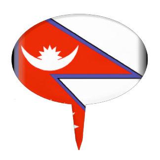 Nepal Flag Cake Picks