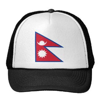 Nepal flag cap