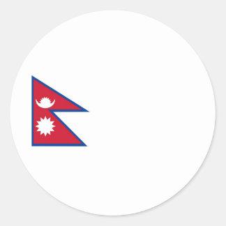 Nepal flag classic round sticker