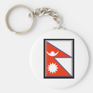 Nepal Flag Key Chains