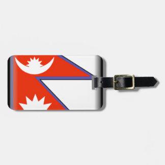 Nepal Flag Bag Tag