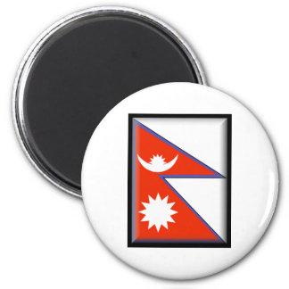 Nepal Flag Fridge Magnets