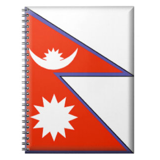 Nepal Flag Spiral Note Book