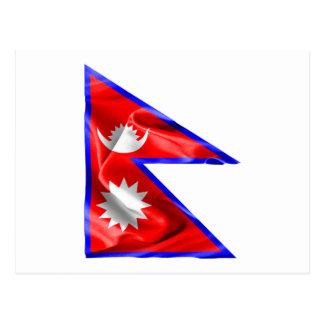 Nepal Flag Postcard