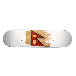 Nepal Flag Skate Board