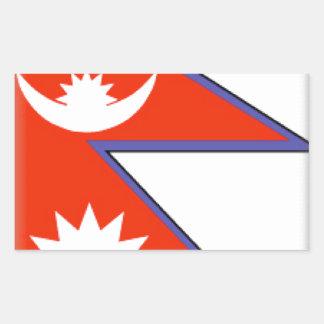 Nepal Flag Rectangular Stickers