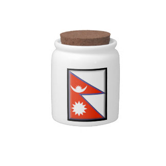Nepal Flag Candy Dishes