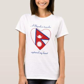 Nepal Flag Sweetheart T-Shirt