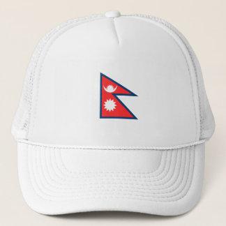Nepal Flag Trucker Hat