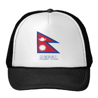 Nepal Flag with Name Cap