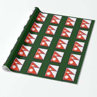 Nepal Flag Gift Wrap Paper