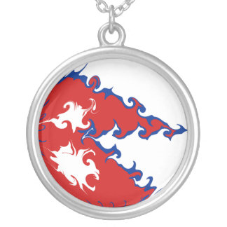 Nepal Gnarly Flag Round Pendant Necklace