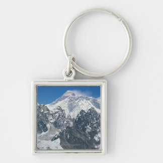 Nepal, Himalayas, view of Mt Everest from Gokyo Silver-Colored Square Key Ring
