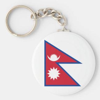 nepal basic round button key ring