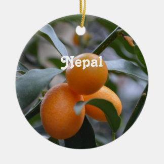 Nepal Kumquats Christmas Ornament