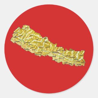 Nepal Map Sticker