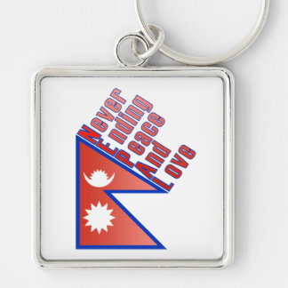 Nepal - Never Ending Peace And Love Key Chain