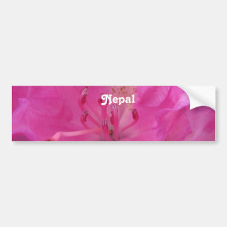 Nepal Rhododendron Bumper Stickers