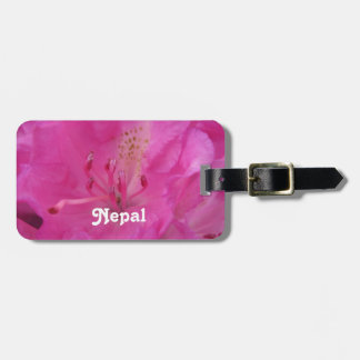 Nepal Rhododendron Tag For Luggage