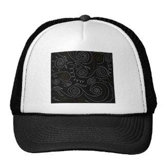 NEPAL SPIRALS BLACK VINTAGE CAP