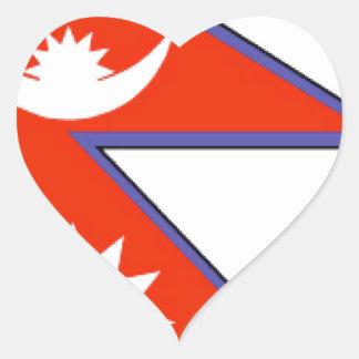 Nepal Heart Stickers